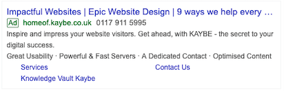Google Smart Campaigns • PPC Ads Example • KAYBE