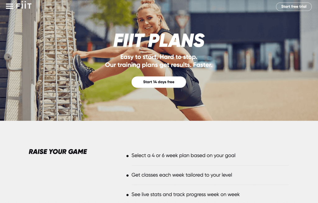 FIIT Online Gym & Online Fitness Classes
